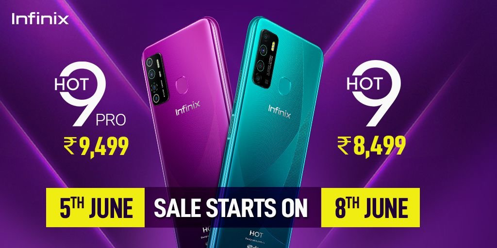 Infinix hot 9 and hot pro price in India