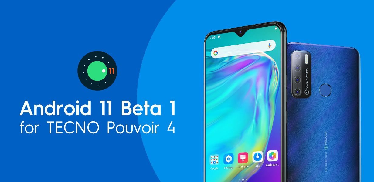 Tecno Pouvoir 4 Android 11 update