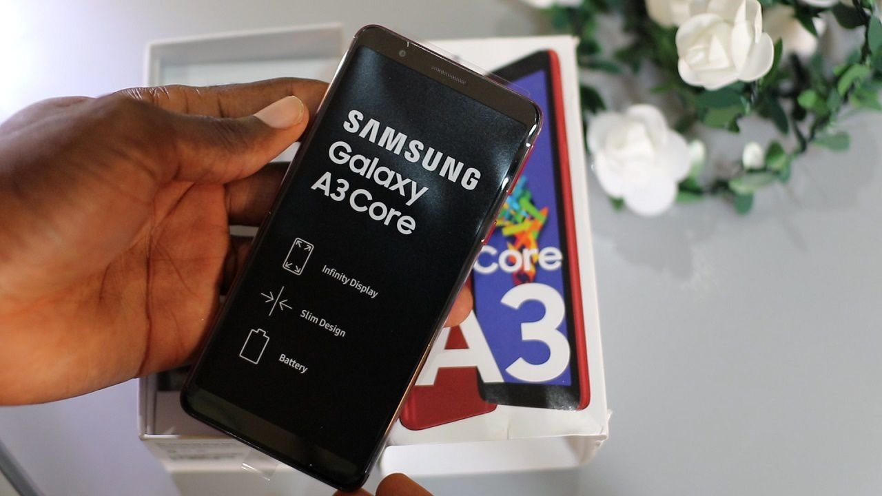 Samsung Galaxy A3 core unboxing
