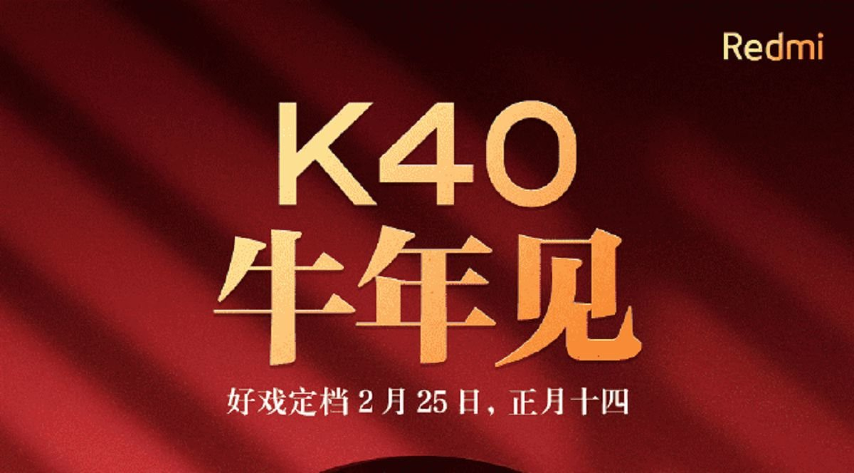 Redmi k40 to launch on 25th of February