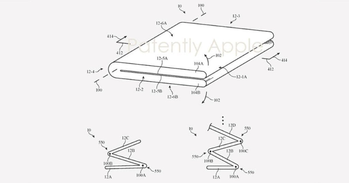 Apple's patent shows foldable iPhone has an outward-folding display