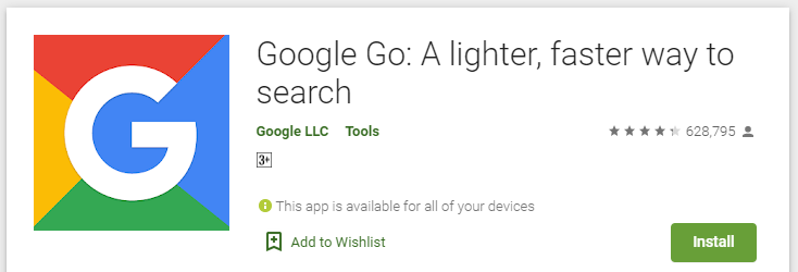 Google Go browser Key features