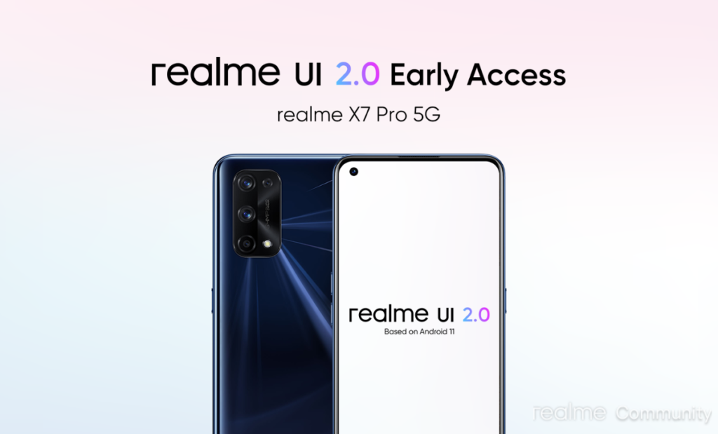 Realme announces the Realme UI 2.0 early access program for X7 Pro: issues and availability.