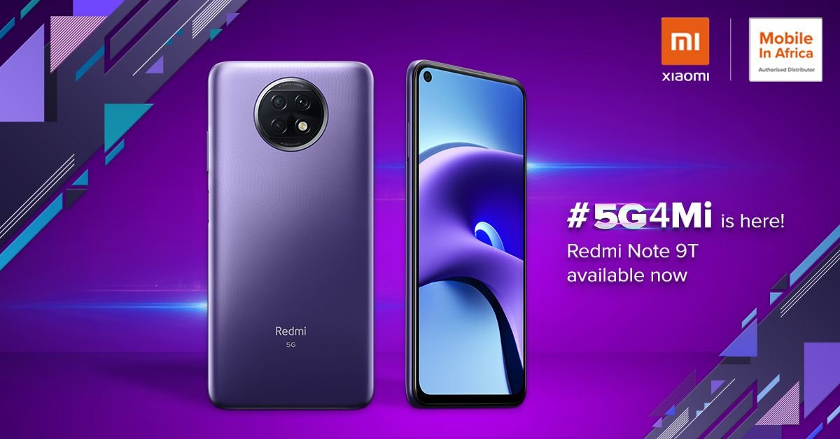 Redmi Note 9t launched in south Africa