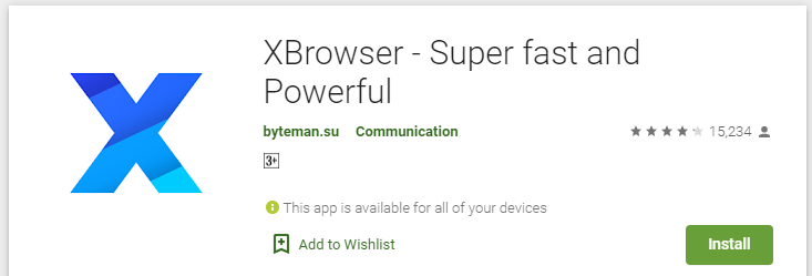 Key features of XBrowser