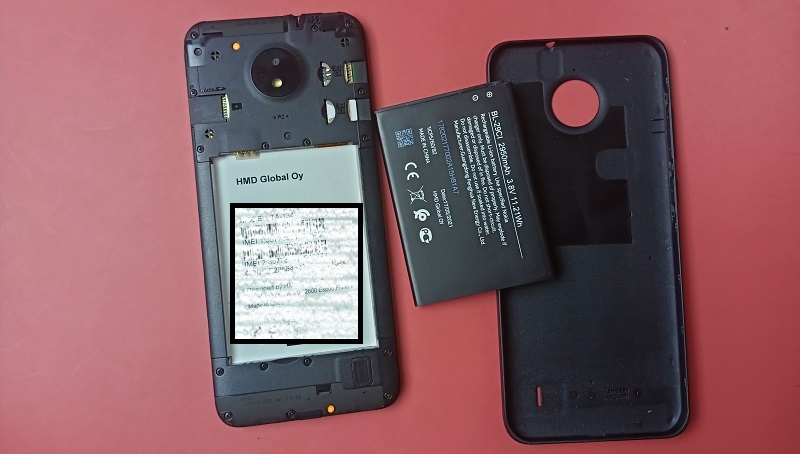 Nokia C10 removable battery