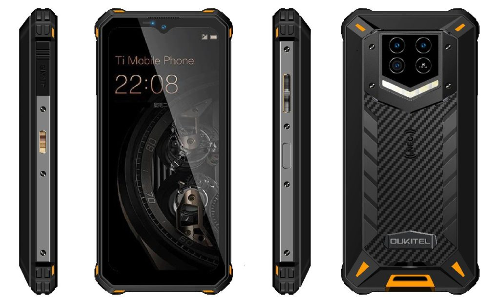 oukitel wp15 back front and side views